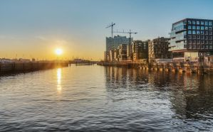 Sunset at Hafencity in Hamburg by DeejayMD