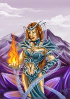 Fire Sorceress in the Icelands by Malengel