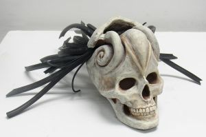 Alien Fisher Skull Sculpture by nitocris