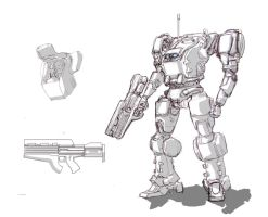 Rough Mecha Concept by ModalMechanica