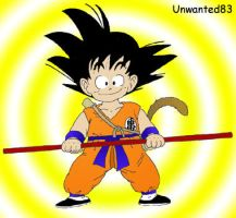 'Unwanted83'Son Goku 002 by Unwanted83