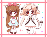 [Closed] Cute Kemonomini Adopts #4-5 by Yamoh