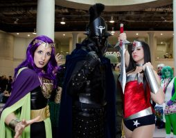 Circe, Ares, and Wonder Woman NYCC 2013 by cosplaynut