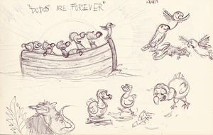 Various Doodles - Dodos Are Forever by qwertypictures