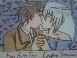 Me and Crispin first kiss by ANGELxBIRD