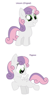 Sweetie Belle - All Pony Races by Pupster0071