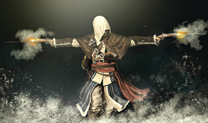 AC IV: Black Flag - Edward Kenway Painting by geekyglassesartist