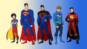 Superdad and his robins by Salman64
