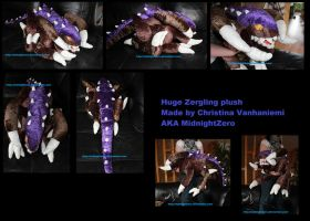 +..::Huge Zergling plush::..+ by MidnightZero