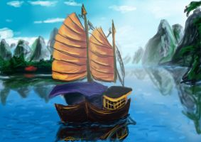 Chinese Junk by tite-pao