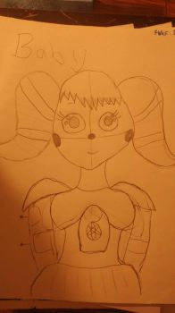 circus baby in progress by foxysfirstmate1987