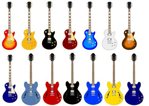 Guitars Ms Paint by bendraws