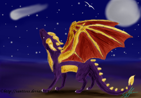 Spyro and shooting star by santtoss