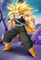 SSJ3 Mirai Trunks - request by carapau