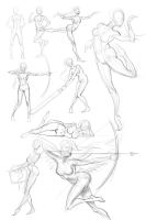 women gesture study by Firnadi