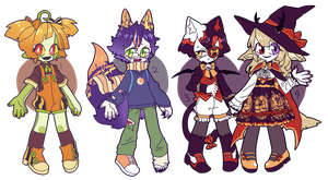 [CLOSED] HALLOWEEN AUCTION ADOPT PILE by fleshcell