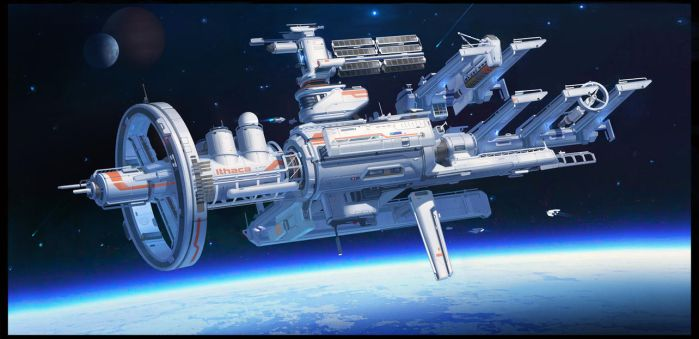 Orbital space shipyard by TCHI by Up-Tchi
