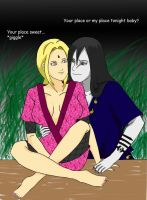 Orochimaru and Tsunade by rachel-chong