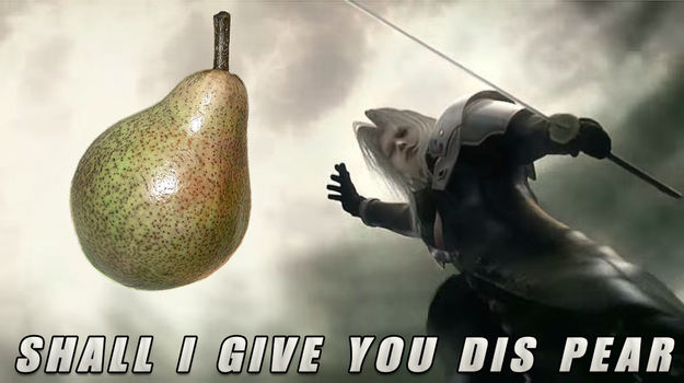Sephiroth: Shall I Give You Dis Pear by auronlu