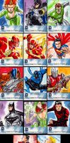 New 52 sketchcards by MarcFerreira