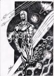 Silver Surfer Illustration by LucaNnoCorE