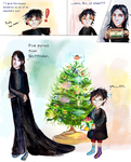 A Very Merry Christmas: Harry and Snape by smallsmiles