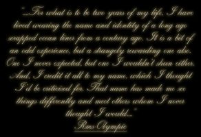 Online Identity - Personal Quote by RMS-OLYMPIC