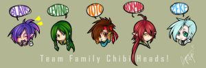 TODa - Team Family Chibi Heads by Aoi-Rikyri