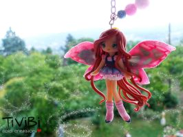 Winx Bloom inspired necklace by tivibi