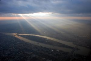 Central Budapest from above by vernyulster