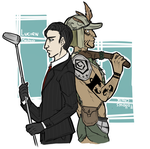 The courier and the tribal by Mikkynga