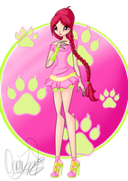 Winx: Ariana Fairy of Animals by DragonShinyFlame