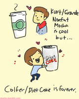 Chris Colfer and Diet Coke by staelus