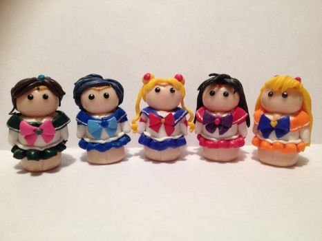 Sailor Moon Mini Figures by Tabitha-Habitat