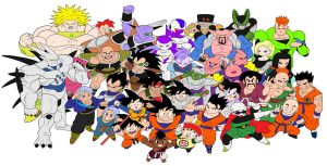 Dragon Ball Z: Budokai 3 Character Roster Vector by animereviewguy