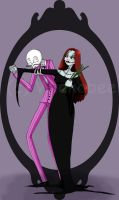 Jack And Sally Addams by Wickabee