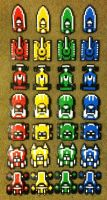 Perler Bead Micro Machines by thewiredslain