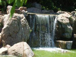 Japanese Garden - Waterfall 3 by Spiteful-Pie-Stock