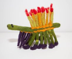 Needle Felted Hallucigenia by Paleogirl