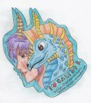 I LUV GALIDOR Support-Badge by Wulfsista