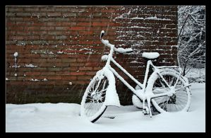 Snowy Bike by IsaFortyThirty1