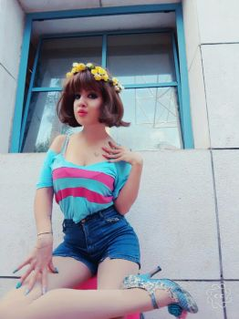 Summer Frisk cosplay by MachanicSky