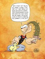 Popeye builds up his strenf by JayFosgitt
