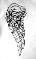 Tattoo Design - Broken stone wing (left) by rockgem