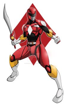 Red Power Ranger by comicartist88