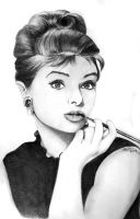 Audrey Hepburn by artistkitty88