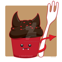 Devils Food Cupcake by kimchikawaii