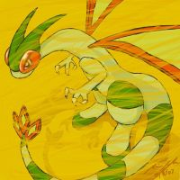 Sandstrike the Flygon coloured by Zucreelo