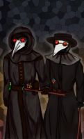 Two plague doctors by Shamakhanka