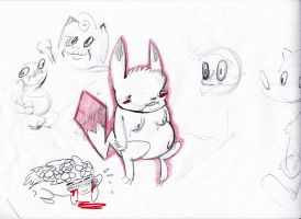 werid pokemon doodles by lucariotails95